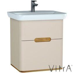 Vitra - Vitra Sento Çift Çekmeceli Lavabo Dolabı, Ayaksız, 65 Cm, Mat Krem