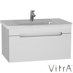 Vitra - Vitra Folda Etajer Lavabolu Lavabo Dolabı, 80 cm, Parlak Beyaz
