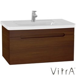Vitra - Vitra Folda Etajer Lavabolu Lavabo Dolabı, 80 cm, Ceviz