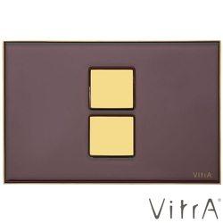 Vitra - Vitra Twin 2 Altın Cam Kumanda Paneli, Bordo-Altın