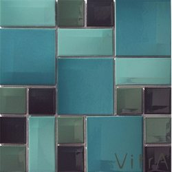 Vitra - Vitra 30x30 Day To Day Aqua Mavi Mix Parlak