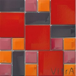 Vitra - Vitra 30x30 Day To Day Kırmızı Mix Parlak